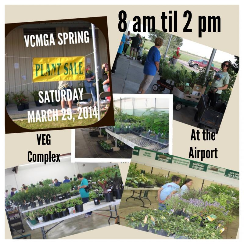 2014 Spring Plant Sale March 29, 8 a.m. to 2 p.m.